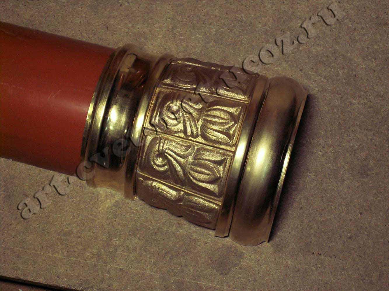 Чеканка по латуни, Фрагмент колонны латунь